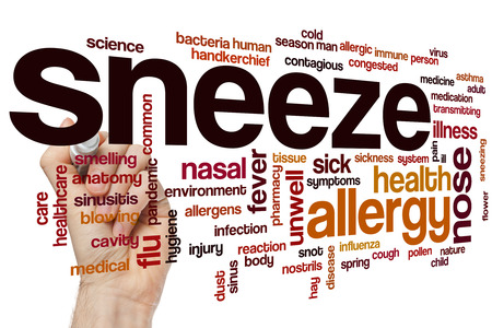 estornudo: Palabra estornudo concepto de nube