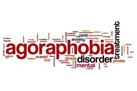 ocd: Agoraphobia word cloud Stock Photo