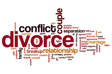 unhappy family: Divorce word cloud