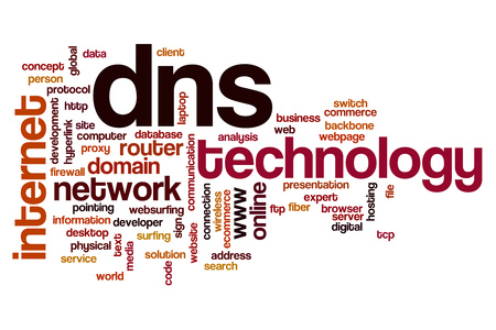 dns: DNS word cloud Stock Photo