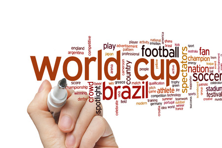 world cup: World cup concept word cloud background