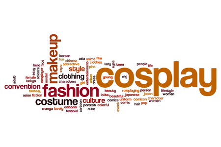 cosplay: Cosplay word cloud Stock Photo