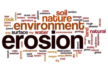 erosion: Erosion word cloud Stock Photo