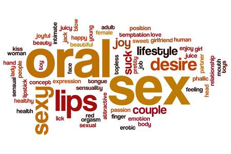 sexuales: El sexo oral nube de palabras Foto de archivo