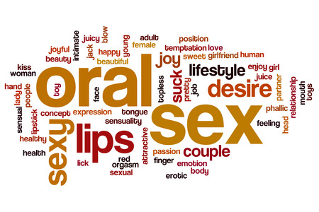 Oral sex word cloud