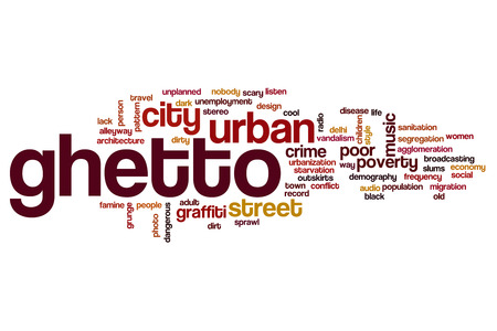 demografia: Ghetto word cloud Foto de archivo