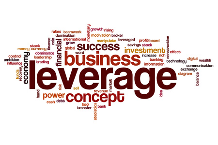 leverage: Leverage word cloud Stock Photo