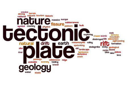 tectonics: Tectonic plate word cloud