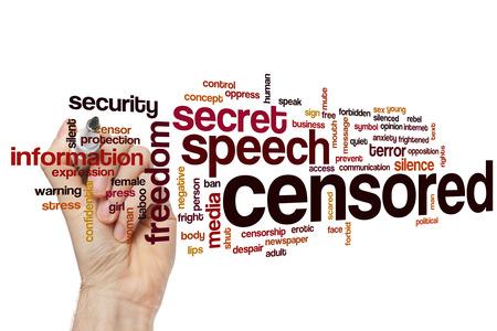censored: Censored word cloud