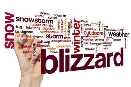 a blizzard: Blizzard word cloud