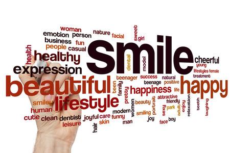 dientes sanos: Sonrisa nube de palabras