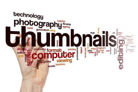 thumbnail: Thumbnail word cloud