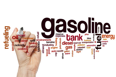 fueling pump: Gasoline word cloud