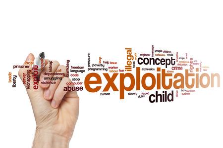 exploit: Exploitation word cloud