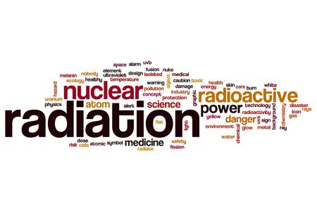 radiacion: La radiación nube de palabras