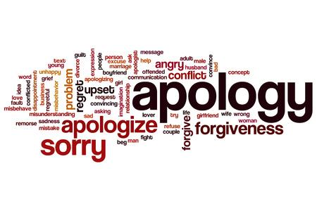 apology: Apology word cloud
