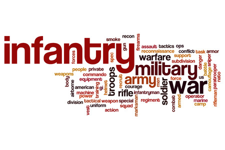 infantry: Infantry word cloud Stock Photo