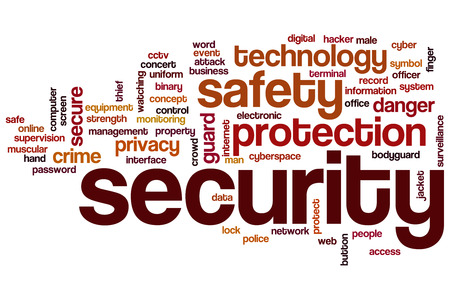 security symbol: Security word cloud