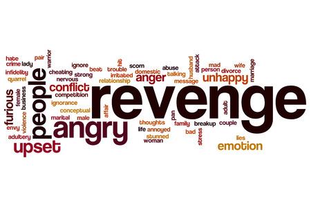 revenge: Revenge word cloud Stock Photo