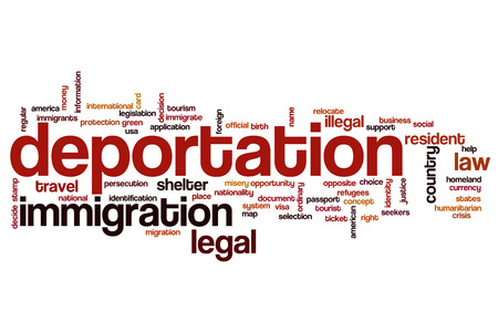 deportation: Deportation word cloud