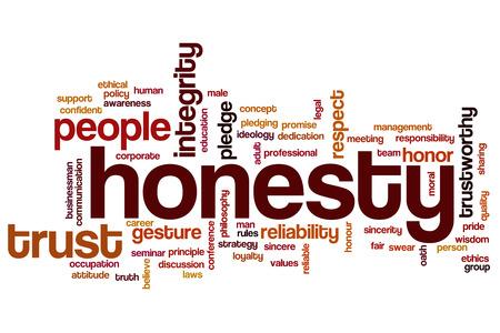 honestidad: La honestidad nube de palabras