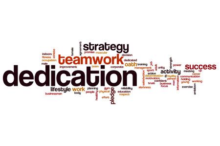 dedication: Dedication word cloud
