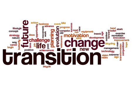 way of life: Transition word cloud