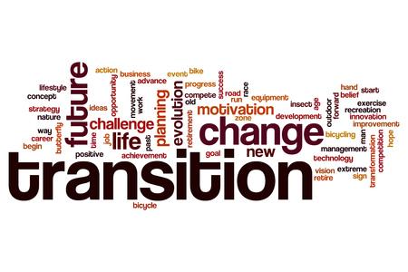 Transition word cloud Banco de Imagens - 48723383