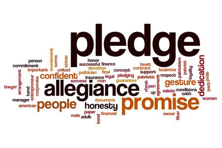 allegiance: Pledge word cloud