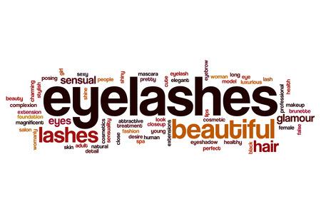 Eye lashes word cloud