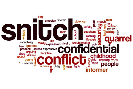 sibling rivalry: Snitch word cloud