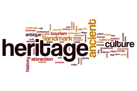 and heritage: Heritage word cloud Stock Photo