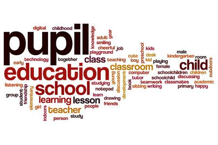 the pupil: Pupil word cloud