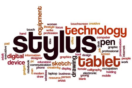 stylus: Stylus word cloud Stock Photo