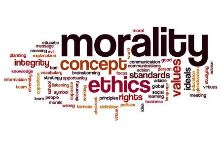 etica: La moralidad nube de palabras