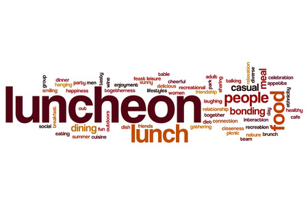luncheon word cloud stock photo picture and royalty free image