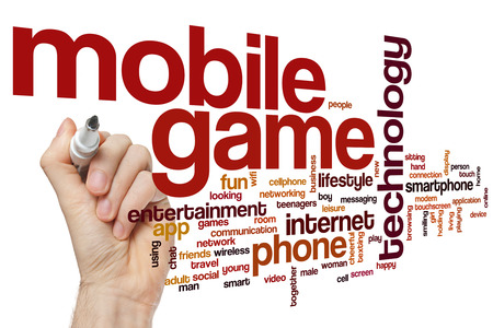 Mobile game word cloud
