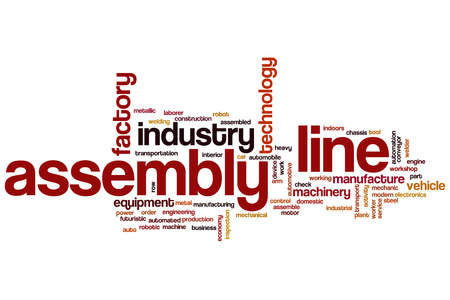 Assembly line word cloud
