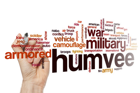 armored truck: Humvee word cloud Stock Photo