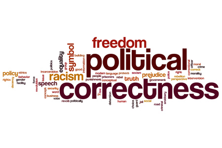 Political correctness word cloud