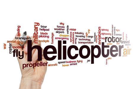 helipad: Helicopter word cloud