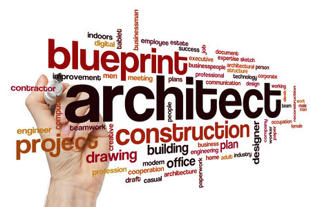 architect: Architect word cloud Stock Photo