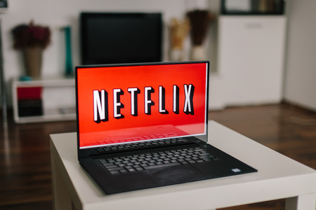 ZAGREB, CROATIA - DECEMBER 20, 2015: Netflix on laptop screen. Netflix is an international provider of on-demand Internet streaming media available to viewers in America, Australia, New Zealand, Japan, and parts of Europe.