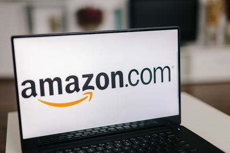 amazon com: ZAGREB - December 20 2015: Amazon logo on modern laptop screen. Amazon is an American electronic commerce and cloud computing company. It is the largest Internet-based retailer in the United States