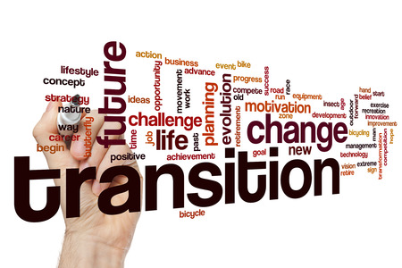 Transition word cloud