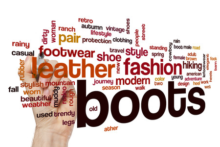 muddy clothes: Boots word cloud