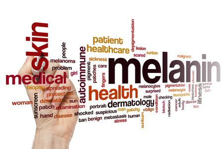 piel humana: La melanina nube de palabras