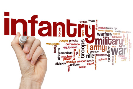 infantryman: Infantry word cloud Stock Photo