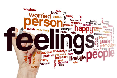 Feelings word cloud Stock Photo