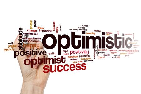 Optimistic word cloud